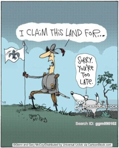 'I claim this land for...'