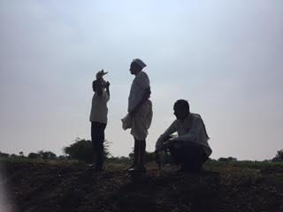 Farmers being interviewed around Rena