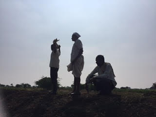 Farmers being interviewed around Rena
